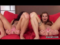 Peculiar czech chick stretches her narrow slit ...