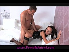 FemaleAgent Cage fighter with pierced cock ribb...