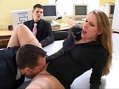British slut Faye Rampton gets fucked in an office - xHamster.com