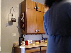 Honey Kiss cooking tits out sexy