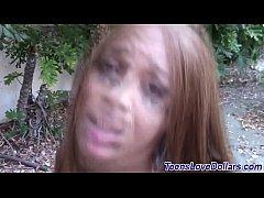 Face jizz teen for money