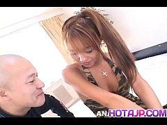Mari Amamiya has hairy crack and asshole fucked with sex toys