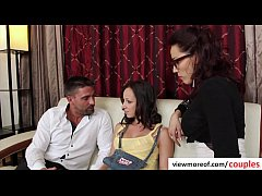Erotic threesome with super hot teen pornstar J...