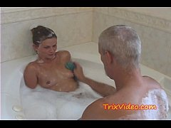 Daddy Bathes his Teen Step-Daughter