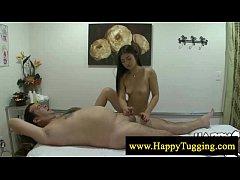 Sweet asian masseuse loves wanking
