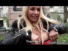 Big boobs blonde Czech girl Kyra Hot pussy bang...