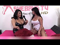 Kerry louise amp kimmy cumlots in hot strapon action 3