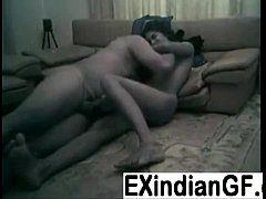 Amateur Indian couple fucking on the living roo...