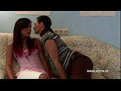 Real hot lesbian couple kissing and licking