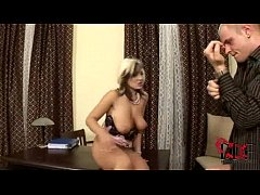 Hot blond enjoys riding some big hard dick at the office