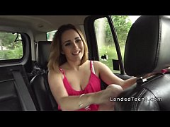 Natural busty teen hitchhiker fucks