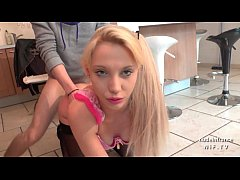 Pretty amateur french teen fucked hard by her b...
