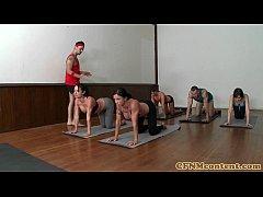 Femdom group with Diana Prince cum swap