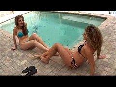 Pleasurable Lesbian feet sniffing