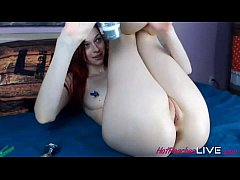 Liana likes to show her wide open holes. She is...