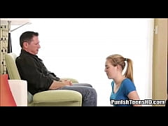 Blonde Teen Begs Daddy To Be Punished - PunishTeensHD.com