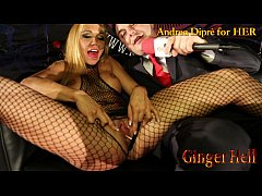 Ginger Hell puts a lollipop in her vagina for A...