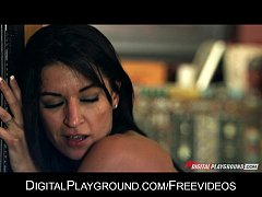 Incredibly HOT natural brunette Ann Marie Rios takes big-dick