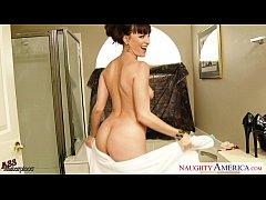 Small breasted brunette Dana DeArmond jump anally cock