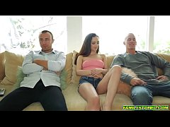 Rich and Chad starts banging Lily Jordan blind folded