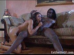Black girl fucks a monster cock