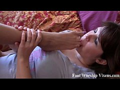 Leyla sucking on Ayanna's little ebony toes