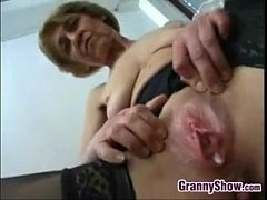 Dirty Grandma Fucking For A Creampie