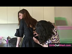 Aussie hairy lesbians enjoy cunnilingus and rim...