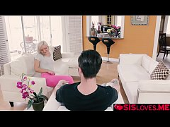Cleo Vixen rides hard on top of her step bro