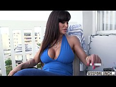 Tremendous tits MILF Lisa is playing around wit...