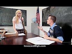 InnocentHigh - Blonde Schoolgirl Fucked Hard By...