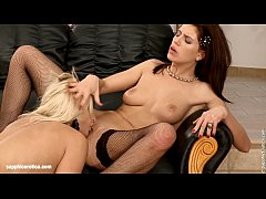 loveseat lappers by sapphic erotica - sensual lesbian sex scene with kristine an