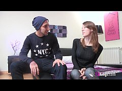 Guy with big dick and shy teen girl meet (And f...