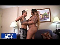 BBW black shemale doggystyled buttfucked