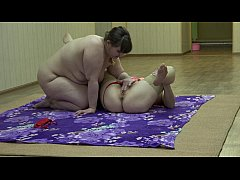 A fat lesbian sniffs panties and licks her girl...