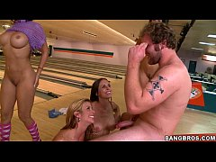Pornstar Sluts Fucking at the bowling alley