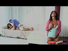 Teen Sarai and stepmom Bianka tag teamed lucky ...