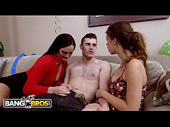 BANGBROS - Stepmom Bianca Breeze Bangs Daughter...