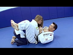 Horny Karate students fucks with her trainer af...