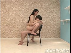 Horny Yuuka Tsubasa is given a variety of sexual positions to practice at home w