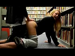 SCANDAL Real Teen Couple Fuck in Library  ...