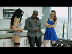 BLACKED Two Girlfriends Jillian Janson and Sabr...