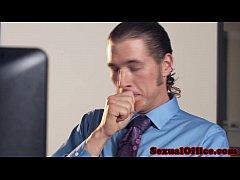 Office secretary cocksucking before cumontits