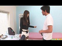 A hot asian girl blowjob and sex with Natsuki