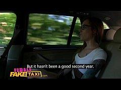 Female Fake Taxi Horny filthy lesbians lick sha...