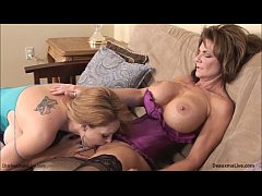 MILFS DeauxmaLive & Charlee Chase Get Cum on Tits!