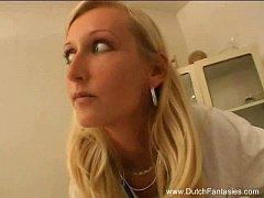 Blonde Dutch Doctor Fucks Her Patient