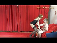MILF agent whore gives BJ to youngster with lon...