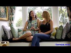 European lesbians pussyrubbing in stockings