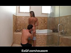 hot fuck with exgf in bathroom